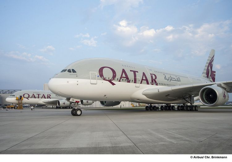 A380 first delivery to Qatar Airways