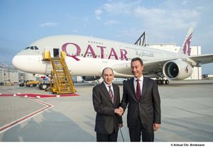 Qatar airways flies into a new era of travel with delivery of its