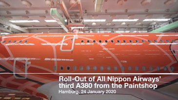 Roll-Out of All Nippon Airways' third A380 from the Paintshop