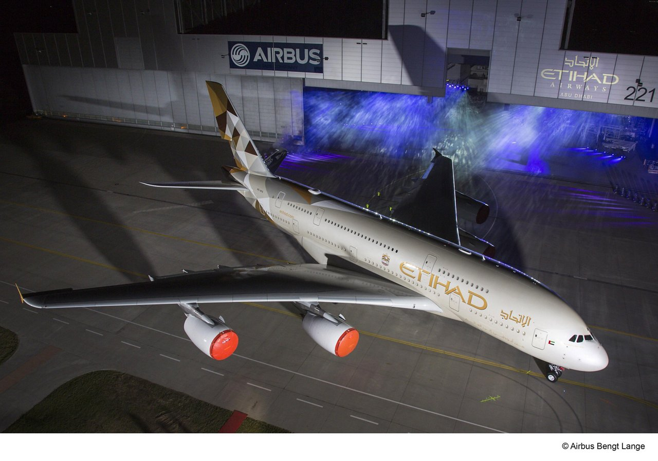 Etihad Airways A380 – Rollout 6