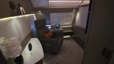 Singapore Airlines new A380 cabin