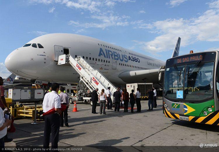 A380 tour in Latin America