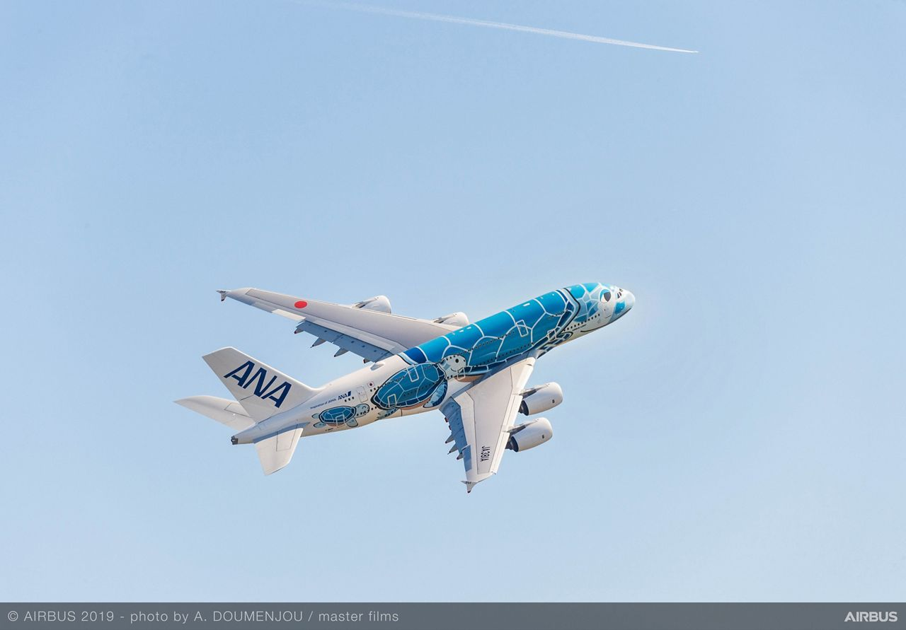 First All Nippon Airways A380 airborne