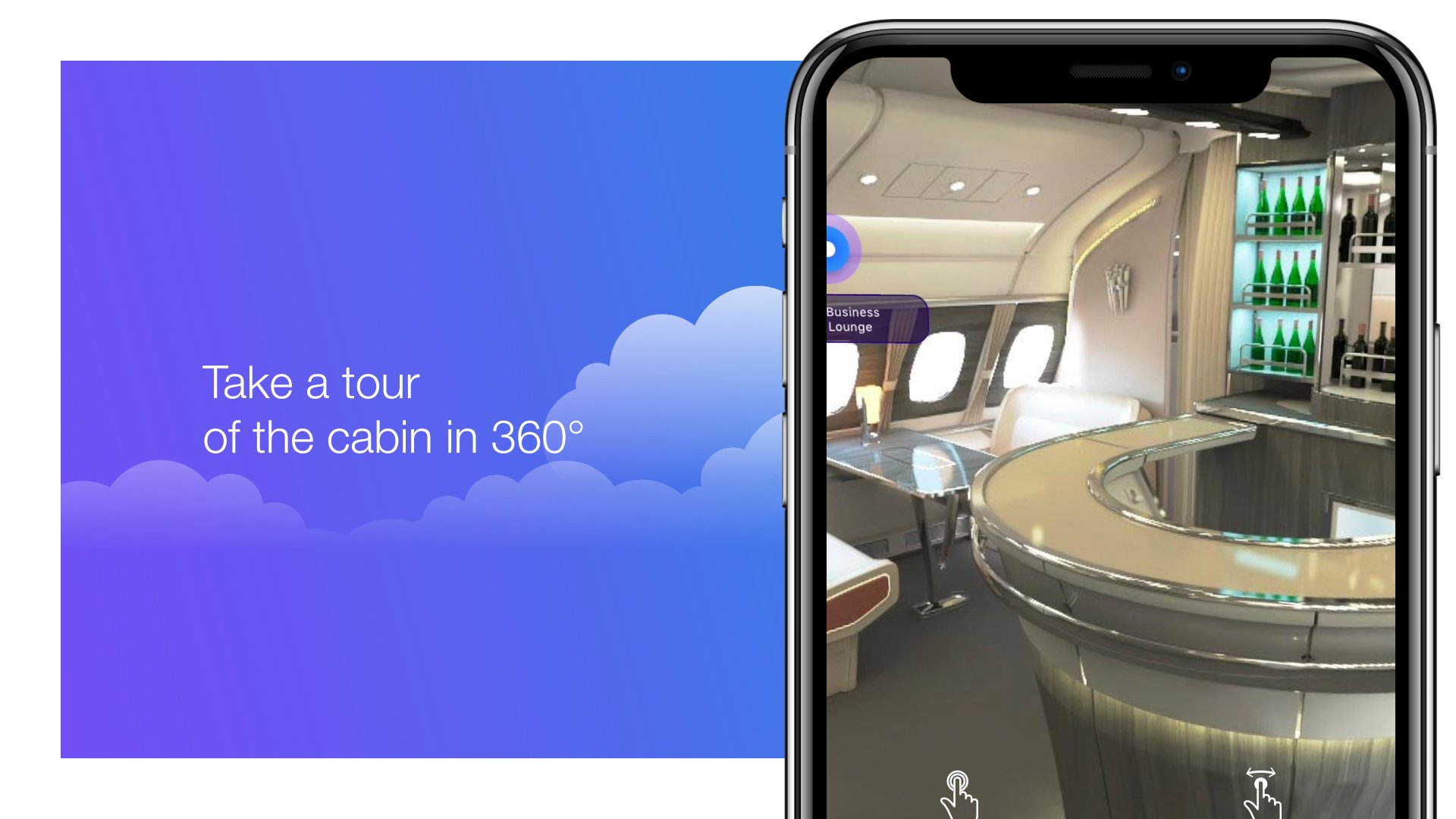 The iflyA380 app makes flying aboard Airbus' flagship jetliner a matter of choice rather than chance; with it, users can book an A380 flight and take a 360° tour of the cabin ahead of time