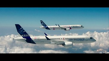 Behind the scenes: Airbus formation flight