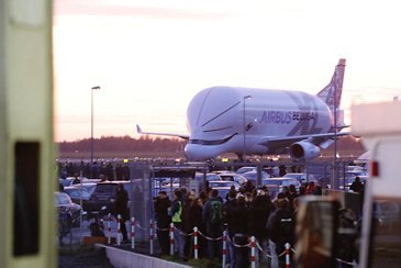 The BelugaXL is welcomed at Bremen