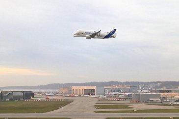 The BelugaXL airborne over Germany