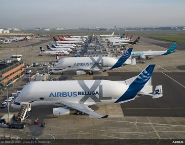 First two Airbus BelugaXL airlifters
