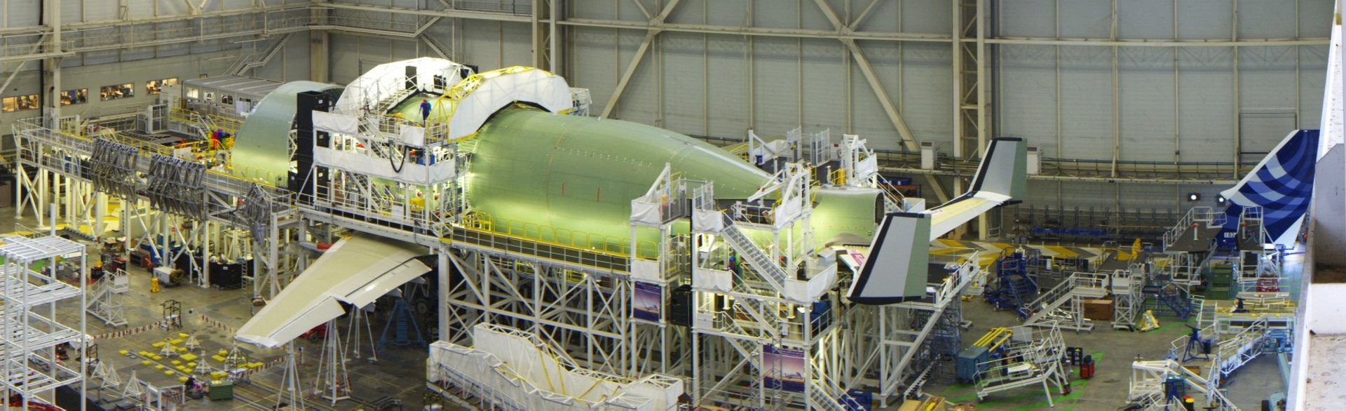 First BelugaXL is readied for electrical power-up