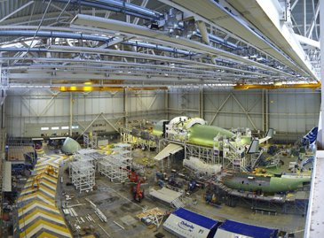Assembly of the first BelugaXL is continuing for its maiden flight next summer
