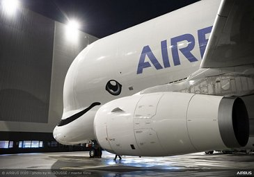 First BelugaXL delivered to ATI – Side view