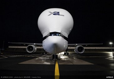 First BelugaXL delivered to ATI – Front view