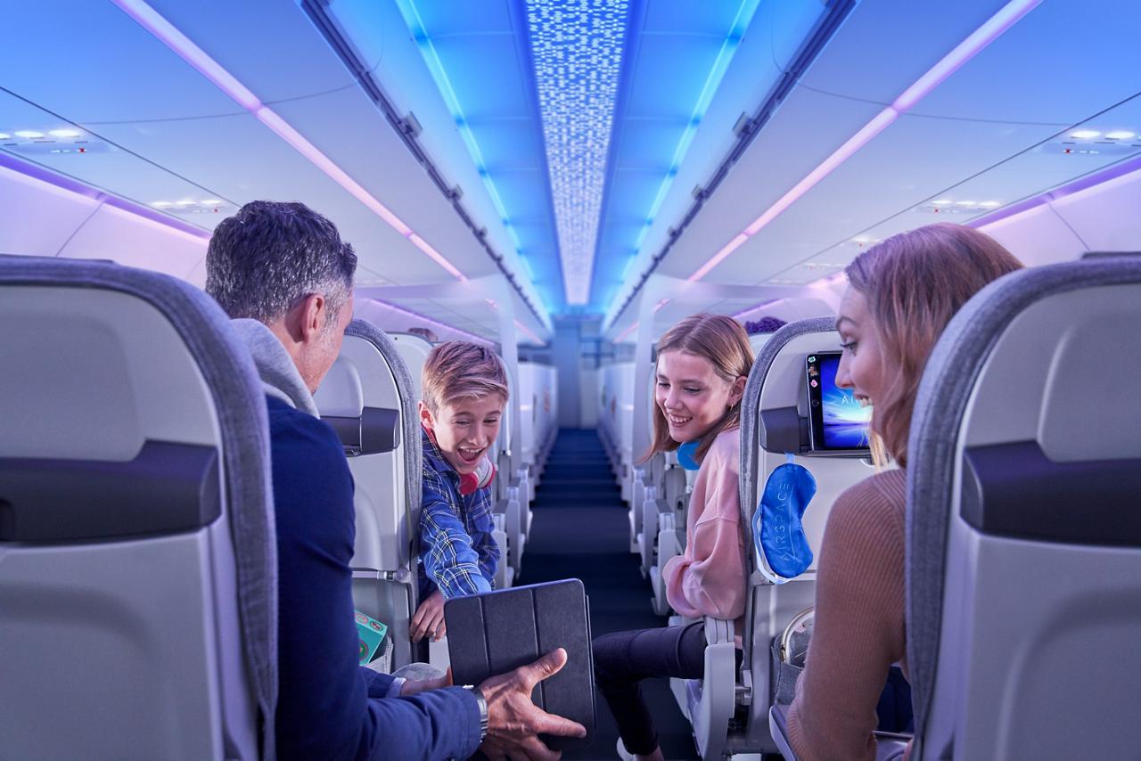 乘客座位的行与综合娱乐系统