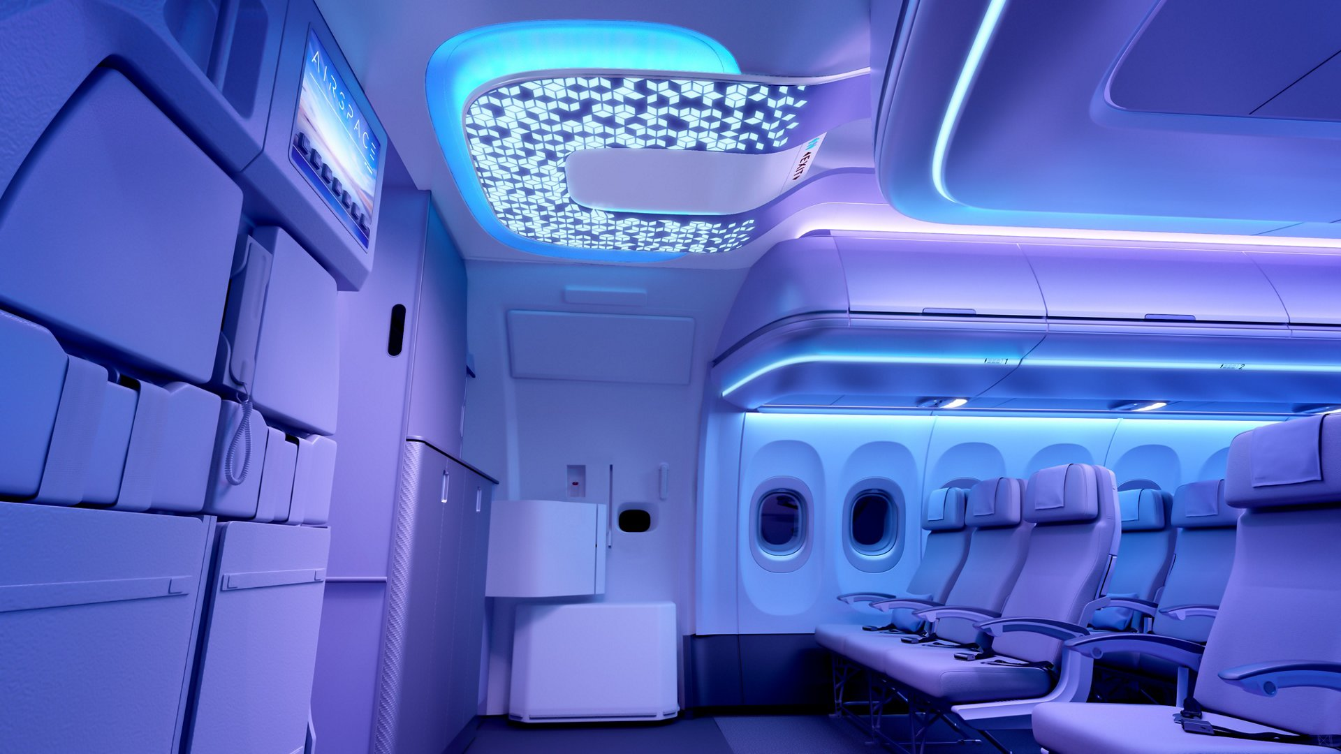 Airspace Cabin A320neo Entrance Area Patterns Night