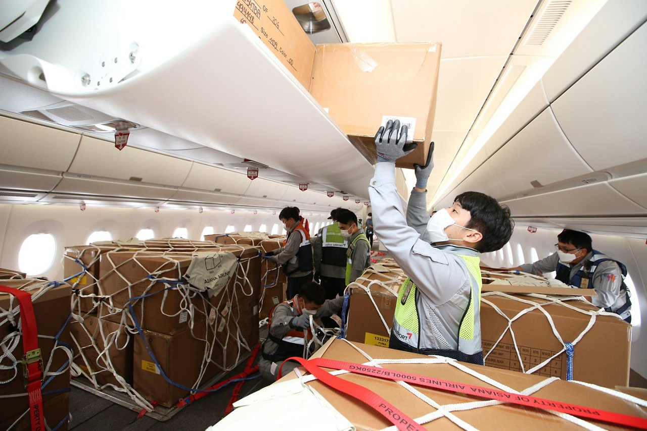 Asiana Airlines A350 Cargo After Modification Loading