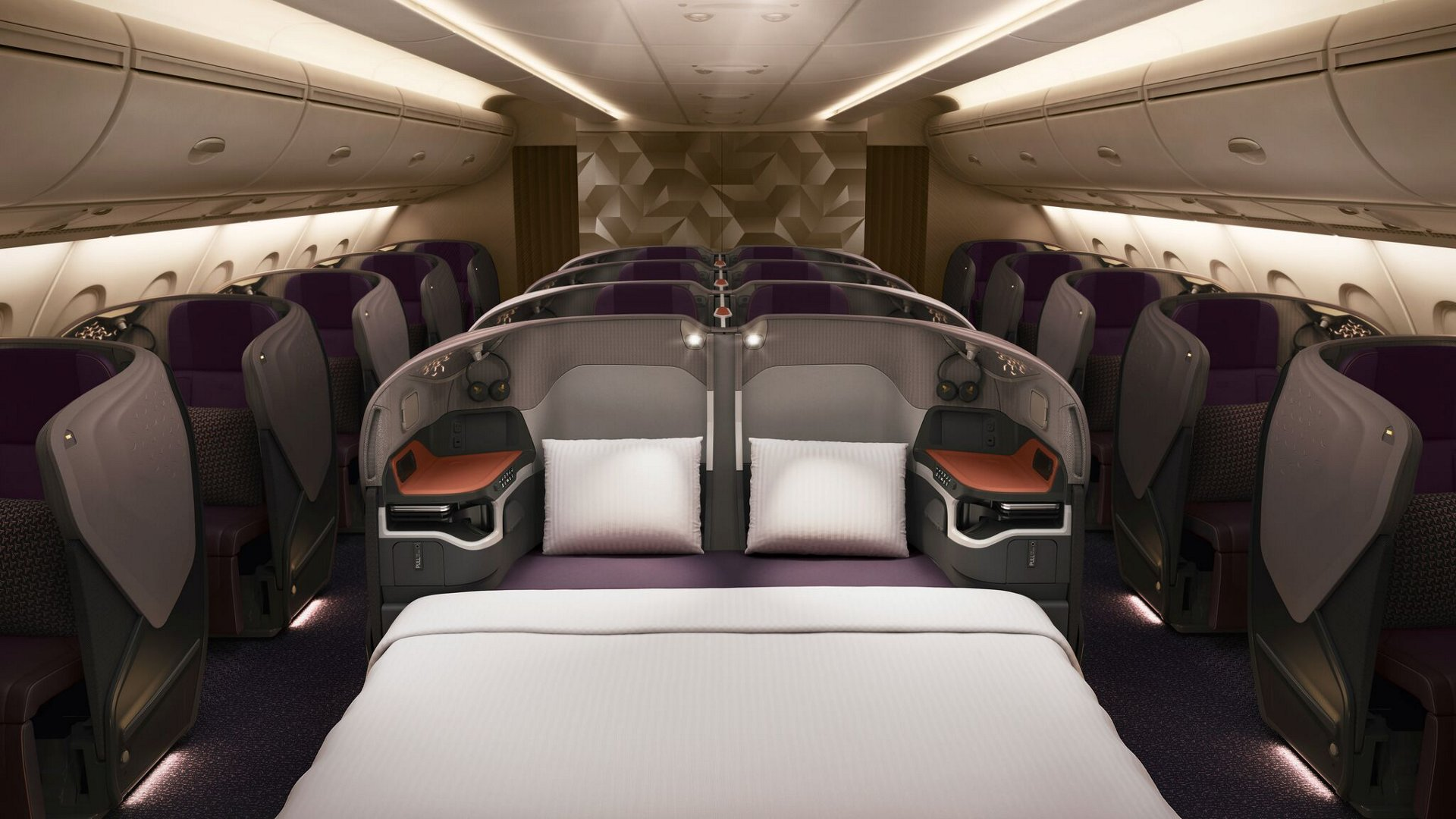 Business Class A380 Singapore Airlines