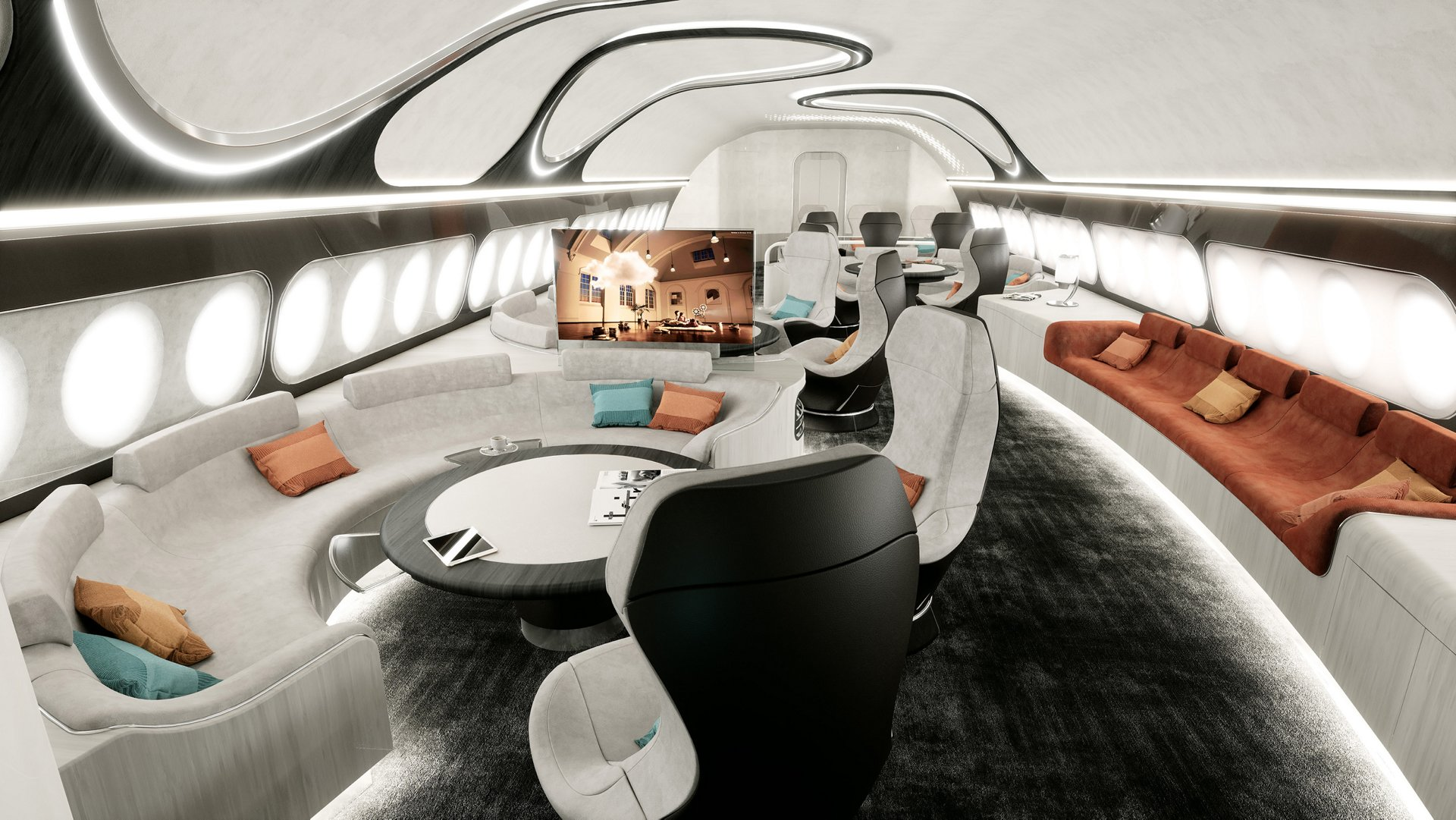 The Harmony cabin concept combines the benefits of Airbus Corporate Jets' VIP widebodies – such as comfort, space and quietness – to produce a consistently harmonious customer experience