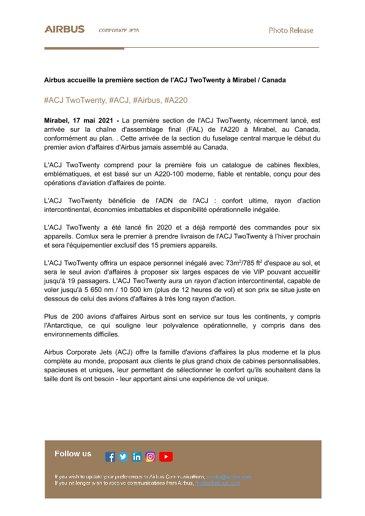 ACJ_FR_Airbus accueille la première section de l'ACJ TwoTwenty à Mirabel Canada V2 .docx