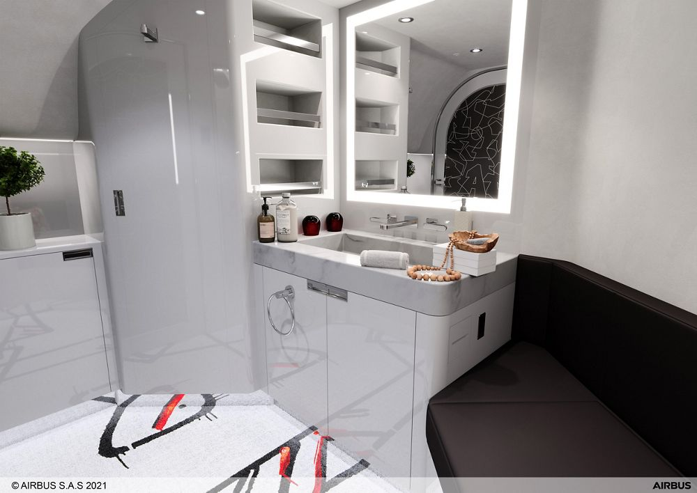 ACJ TwoTwenty Special Cabin Edition Cyril Kongo Washroom