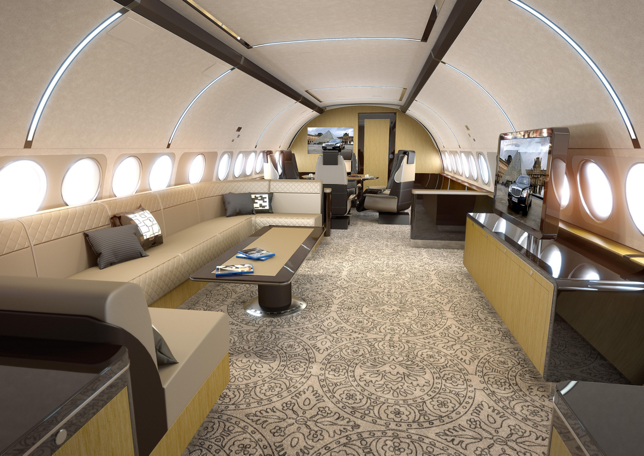 The ACJ319 Elegance, a new version of Airbus' ACJ319 corporate jet, allows customers to choose from a wide range of lounge, office, dining and conference modules
