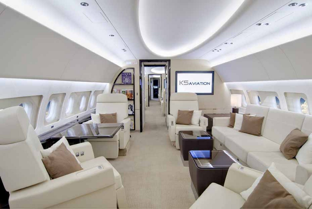Airbus' ACJ319 has the most capable cabin of any corporate jet at EBACE, allowing visitors to see for themselves how more people can fly in more comfort, with more freedom of movement.