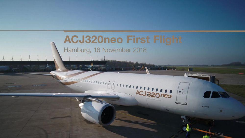 First flight of ACJ 320neo in Hamburg
