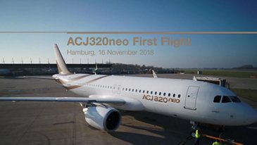 First flight of ACJ 320neo in Hamburg