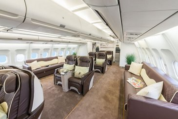 ACJ340 AirX Charter ltd interior