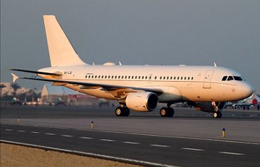 ACJ319 Emirates exterior