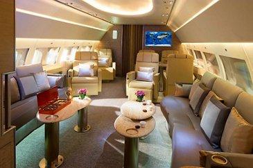 ACJ319 Emirates interior