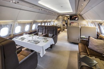 ACJ318 Elite Global Jet interior