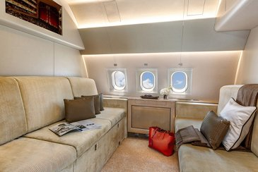 ACJ319 LX-GVV Global Jet interior