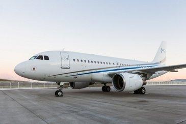 ACJ319 LX-MCO Global Jet exterior