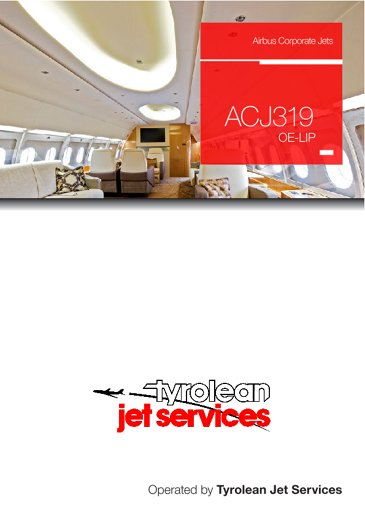 ACJ319 OE-LIP Tyrolean Jet Services