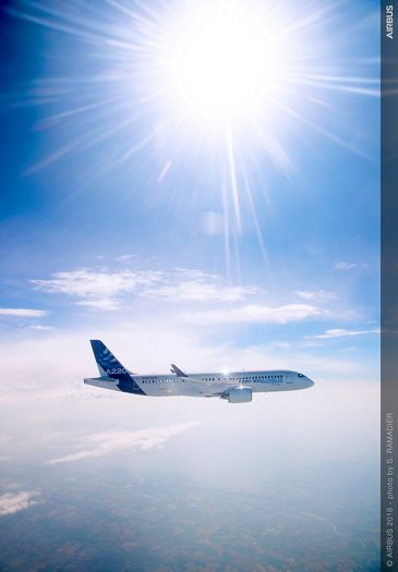 Airbus wallpaper – A220-300 in flight