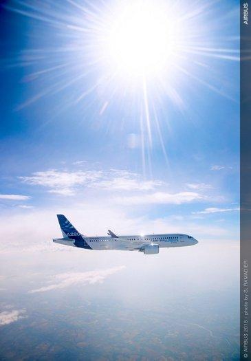 Airbus wallpaper – A220-300 in flight