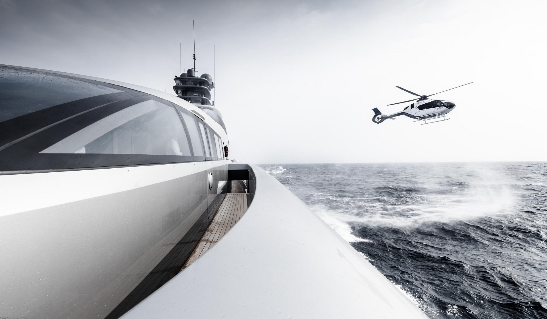 Airbus Corporate Helicopters Displays New ACH135 Helionix at Monaco Yacht Show for the First Time