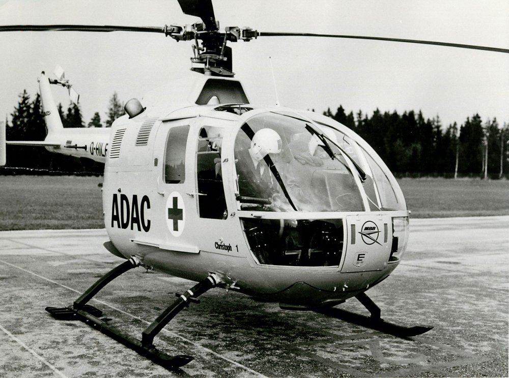 The pioneering Bo 105 helicopter has been purchased by more than 300 operators around the globe, including Germany's ADAC air rescue service