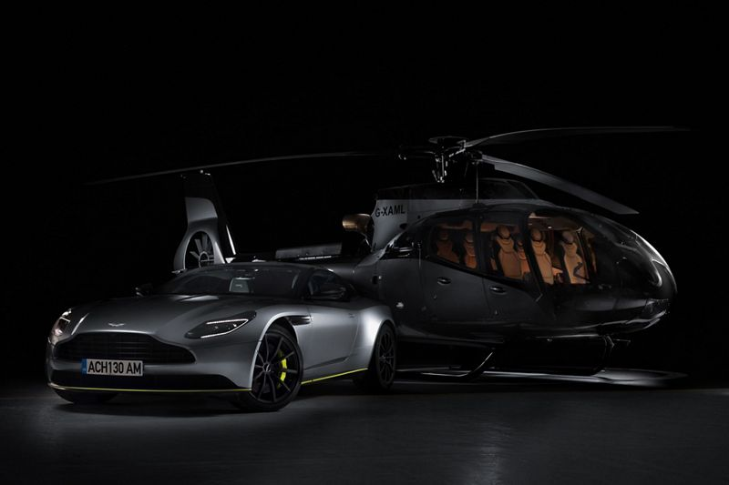 Airbus Teams Up With Aston Martin To Launch The Ach130 Aston Martin Edition Helicopter Helicopters Airbus