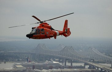 Coast Guard Air Crew Flies Over New Orleans
