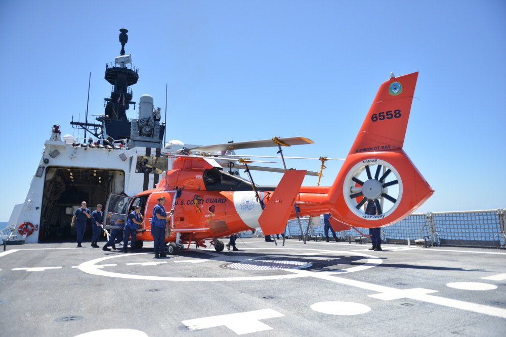 U.S. Coast Guard MH-65 Eastern Pacific Ocean