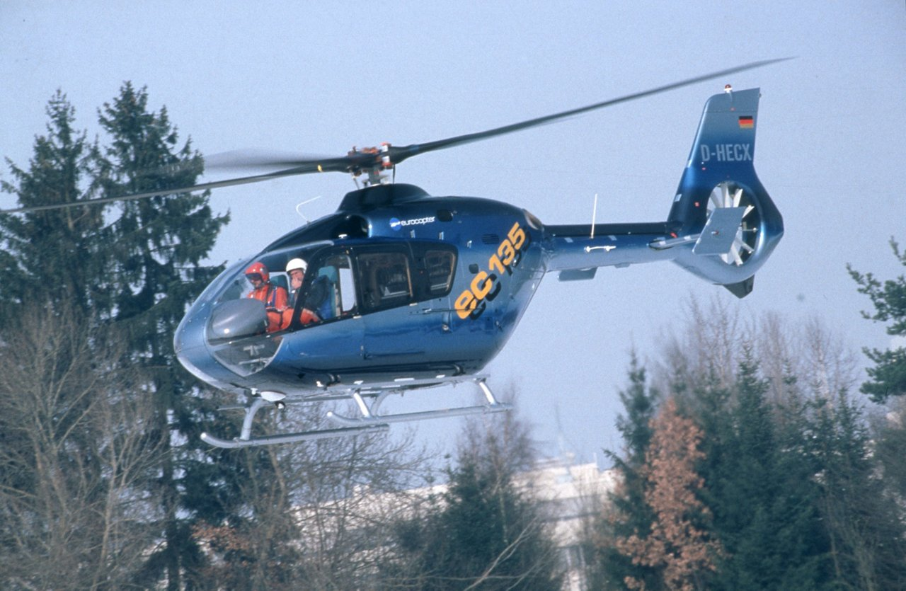 Maiden flight of the fourth EC135 prototype