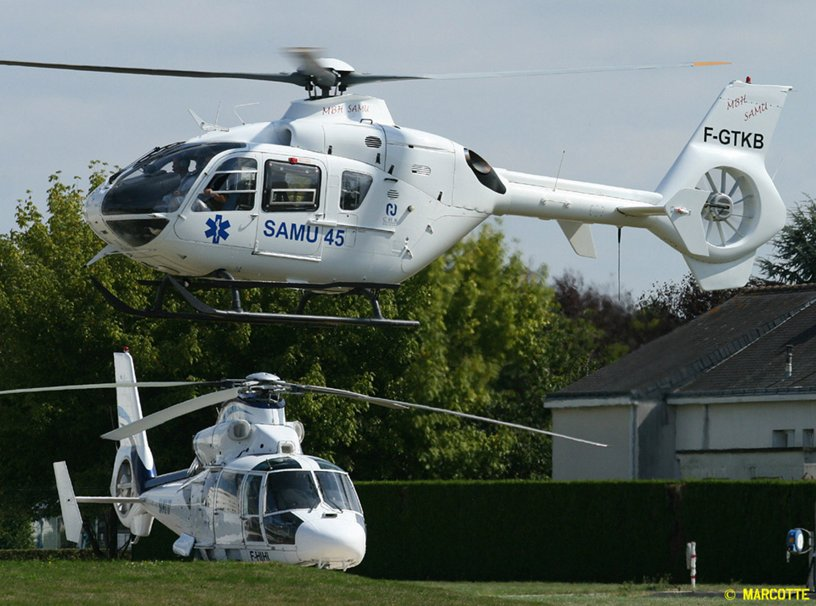 Mont Blanc EC135 and AS365
