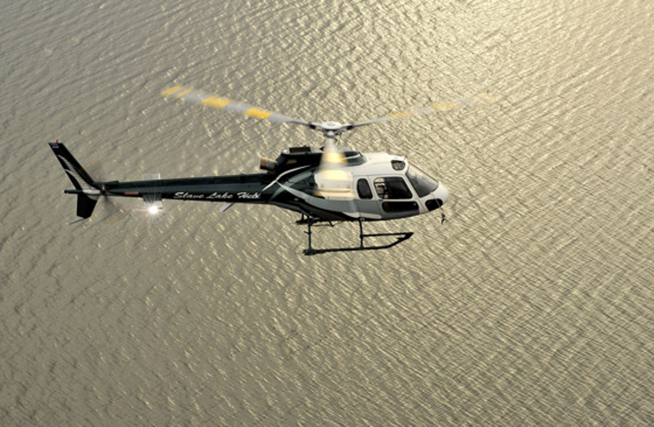The AS350 Écureuil helicopter adopted fibreglass for its main rotor-head
