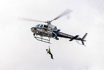 Texas DPS aerial lift rescue exercise