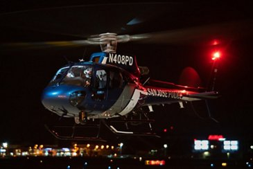 San Jose Police Dept's H125 in flight