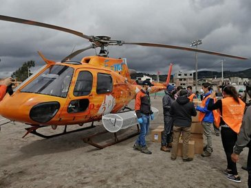 Ecocopter provides relief during pandemic