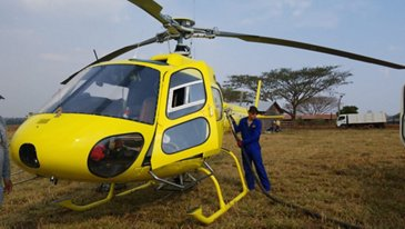 H125 in use during support of Bolivian efforts to fight fires in Amazon