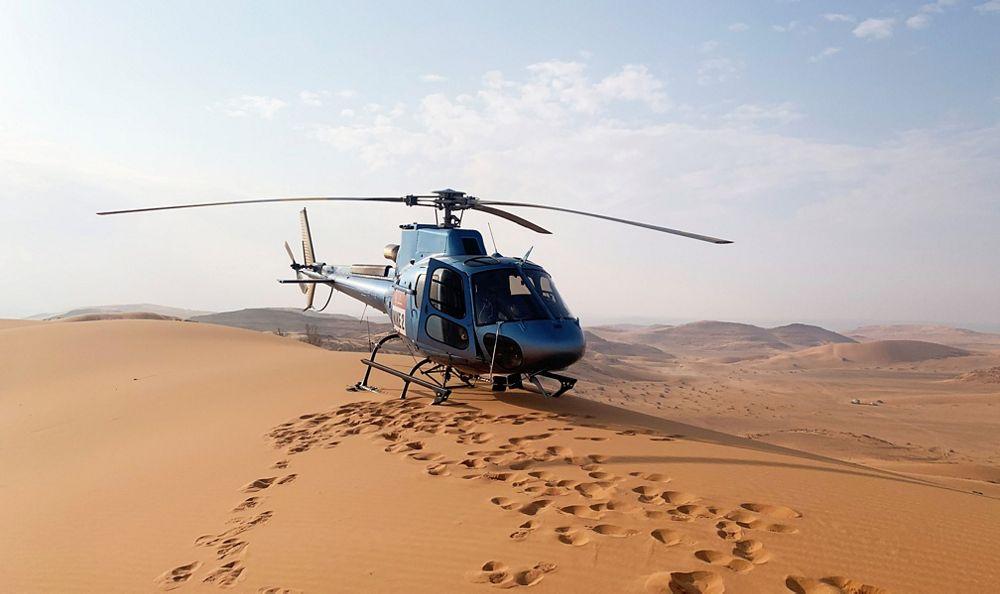 Dakar Rally helicopter