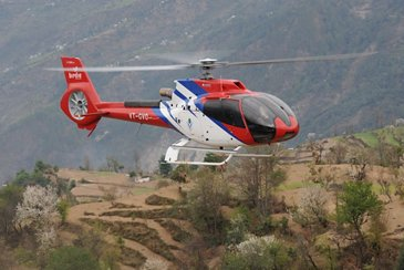 GVHL's H130 flying over hard-to-reach areas